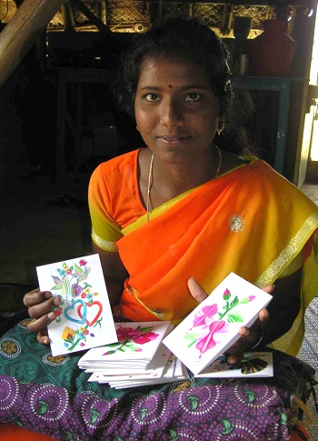 card-making trainees